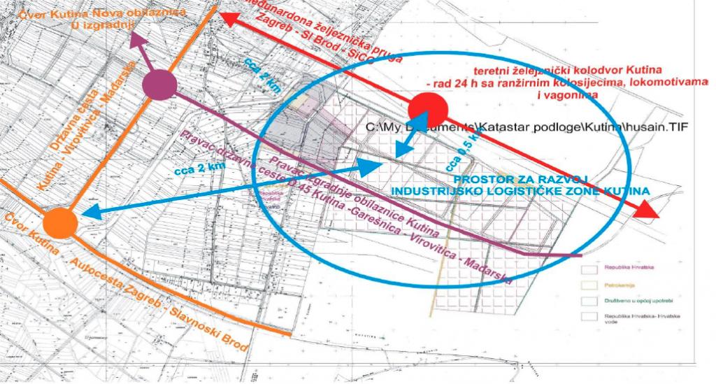 Kutina, industrijsko logistička zona, prostor za razvoj